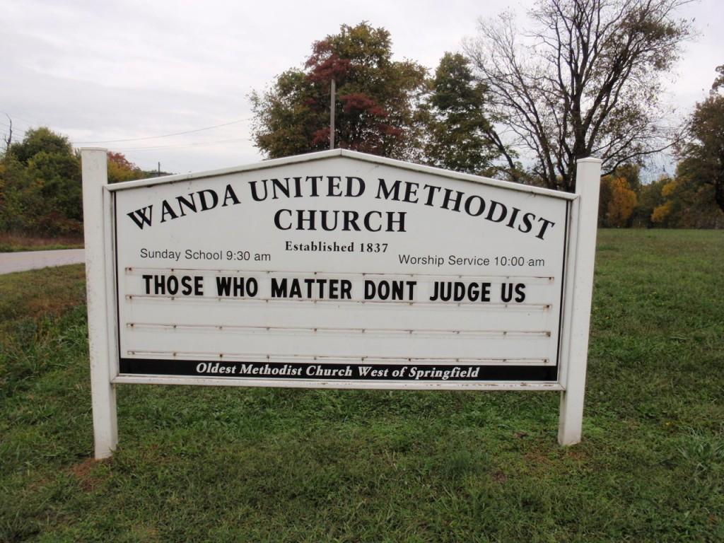 Wanda Missouri Ozarks sign