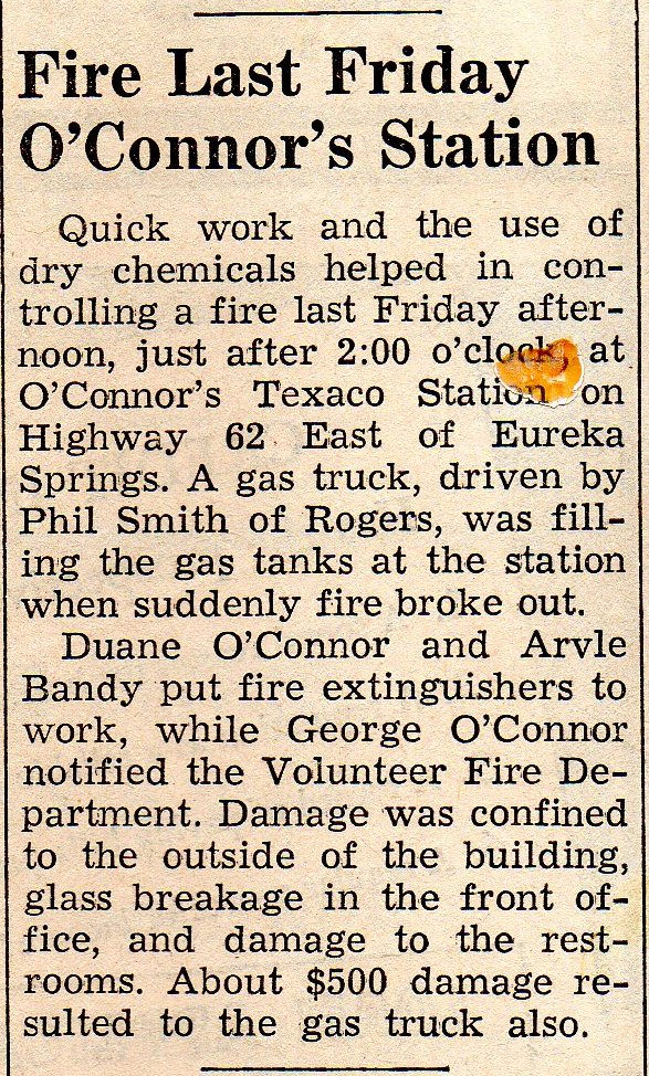 February 11, 1965 Eureka Springs Times-Echo O'Connor's Service Station