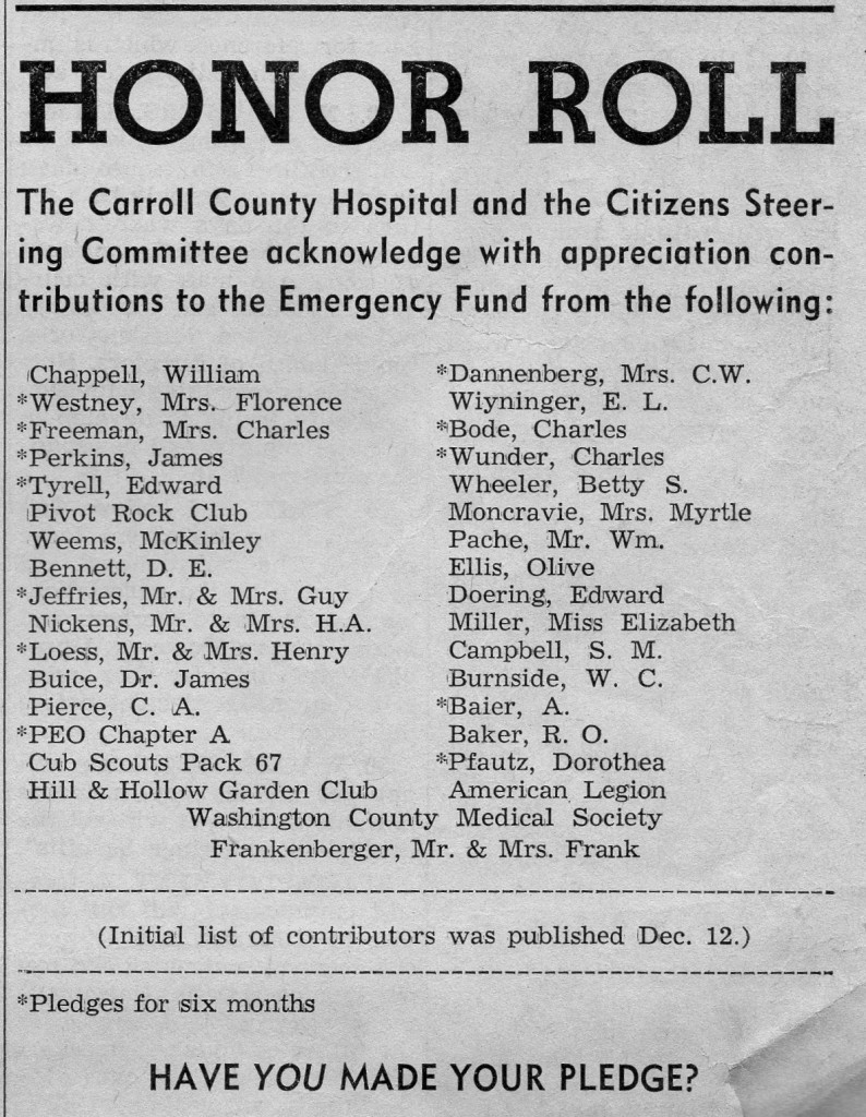 ESTE 2 Jan 1964 Hospital Fund
