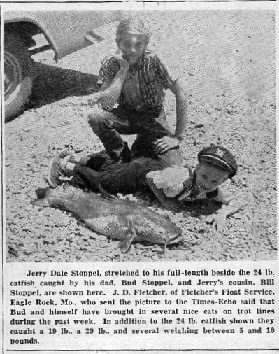 Times-Echo 6 Jun 1963 Stoppel Catfish