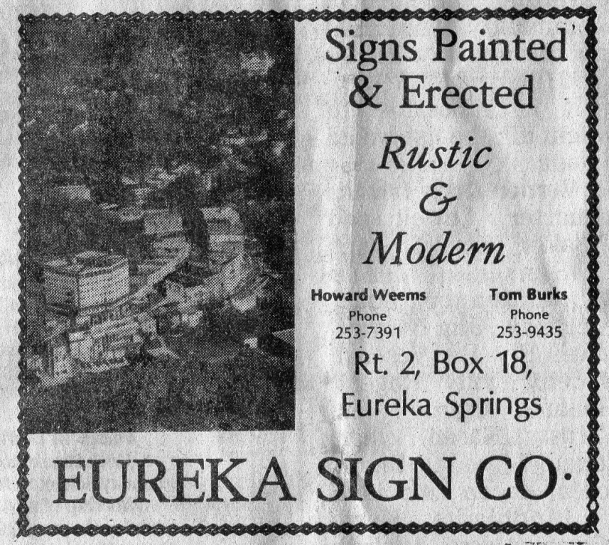 ESTE 11161978 Eureka Sign Co Howard Weems
