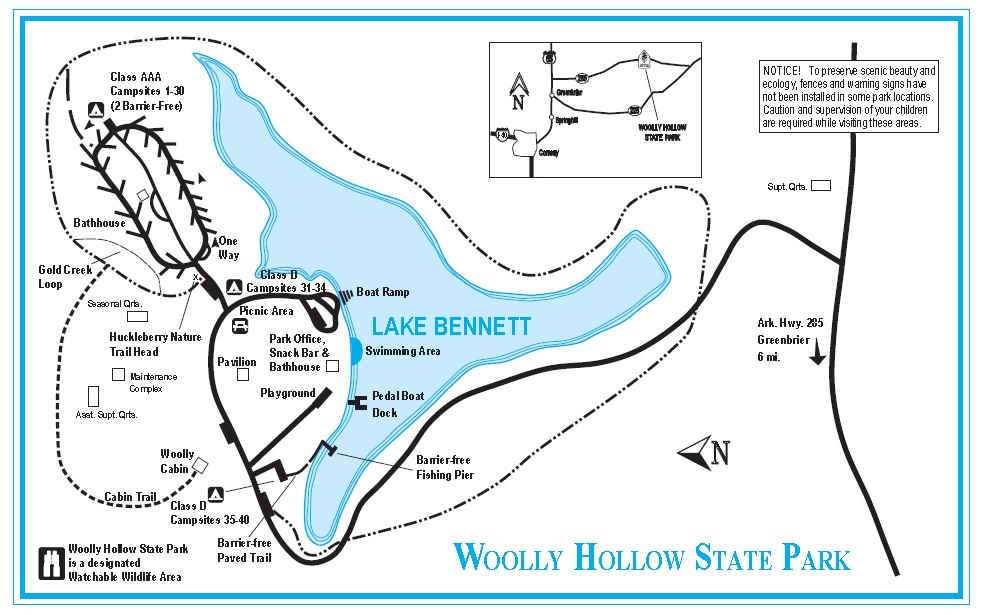 woolly hollow state park map