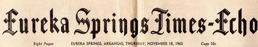 Eureka Springs Times-Echo November 18, 1965